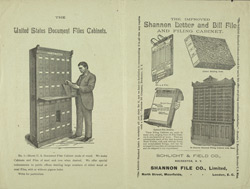 Advert for the Damp Leaf Copier & Schlicht's Standard Indexes, reverse side